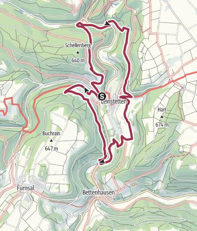 Map / Auf aussichtsreichen Wegen rund um Leinstetten