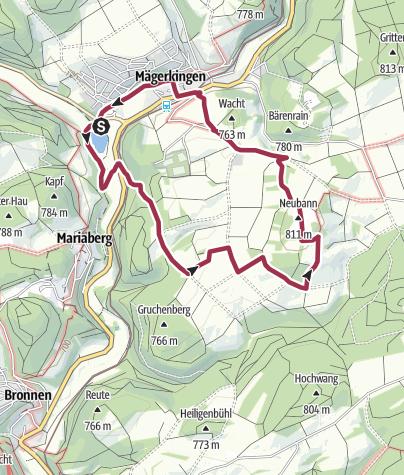 Karte / Lauchertsee-Neuban-Runde (Start am See)