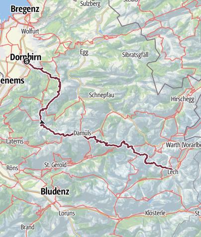 Vorarlberg Karte Berge.Auf Den Spuren Des E4 Alpin Durch Bregenzerwald Und