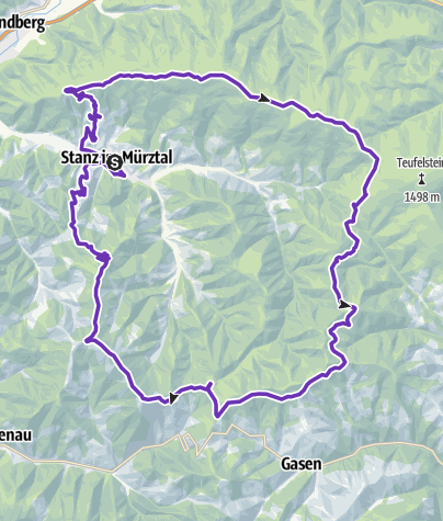 Karte / Stanzer Trailrun Route 2018