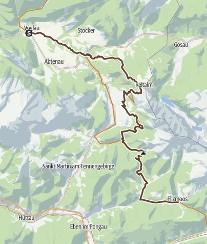 Map / Transalp Salzburg-Villach-Slowenien - Etappe 2a bis Filzmoos