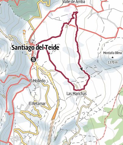 Karte /  5. März 2018 El Cielo Montagswanderung Mandelblüte ab Santiago del Teide