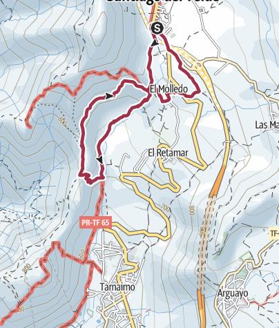 Karte / 7. März 2018 Mittwochswanderung ab Santiago del Teide