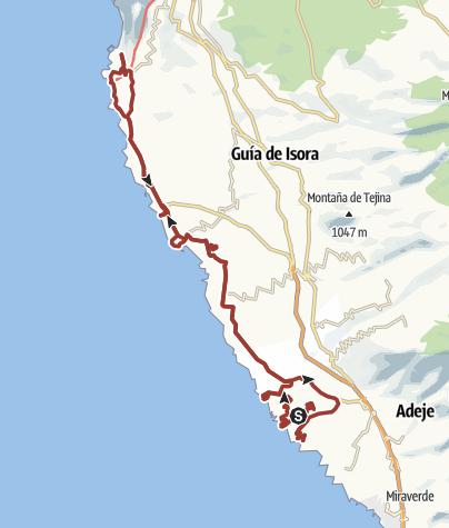 Karte /  8. März 2018 Rollertour der Küste entlang