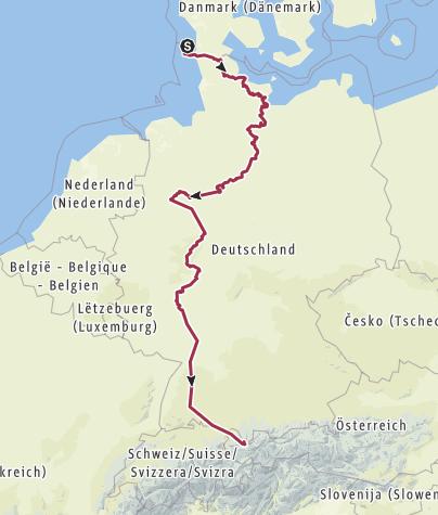 Karte / DE-Nord/Sued Westerland-Haldenwanger Eck