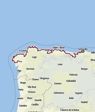 Karte / Santander-Santiago de Compostela