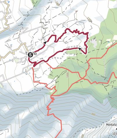 Karte / 12. März 2018 Rundwanderung ab Taucho