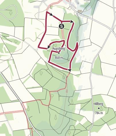 Karte / Rundwanderweg Augstberg