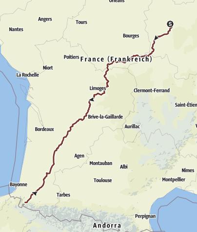Térkép / Vézelay - Saint-Jean-Pied-de-Port