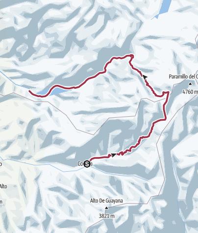 Map / Possible tour in Parque de los Nevados