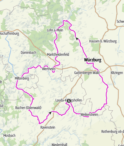 Karte / Verbundener Rad-Achter