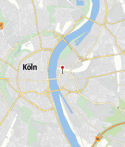 Karte / Jugendherberge Köln-Deutz