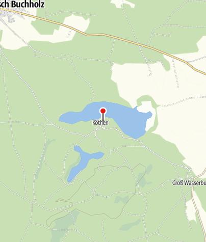 Karte / Jugendherberge Köthener See mit Zeltplatz