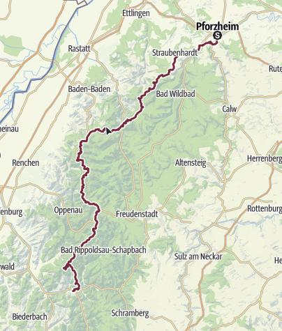 Pforzheim Karte.Der Klassiker Auf Dem Westweg Von Pforzheim Nach Basel In Etappen
