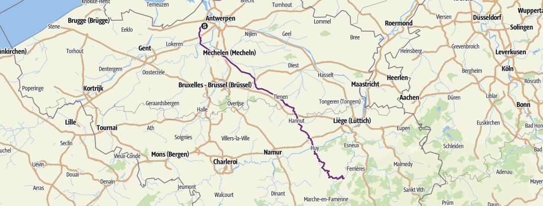Karte / Beveren>>>barvaux 2018