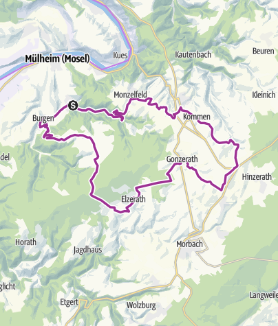 Karte / ebike-Tour 5: Rundtour durch den Moselhunsrück und die Grafschaft Veldenz