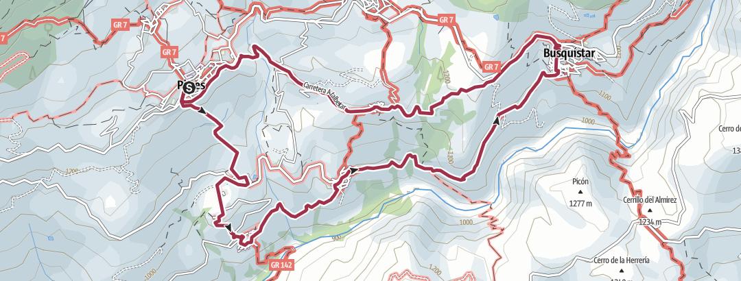 Cartina / Bruckmann Tour 30 Weiße Dörfer