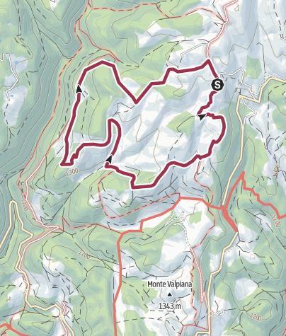 Karte / Giro ad anello delle Malghe - Percorso Lungo