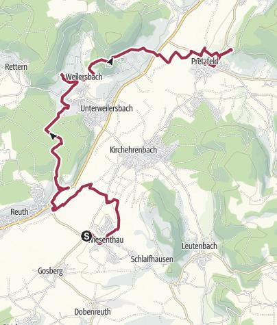 Map / Kellerwanderung im Wiesenttal