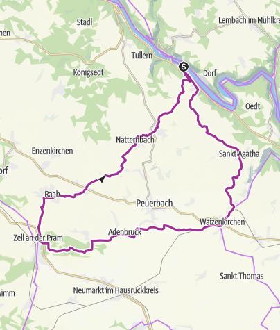 Karte / Rundtour im Hausruckviertel