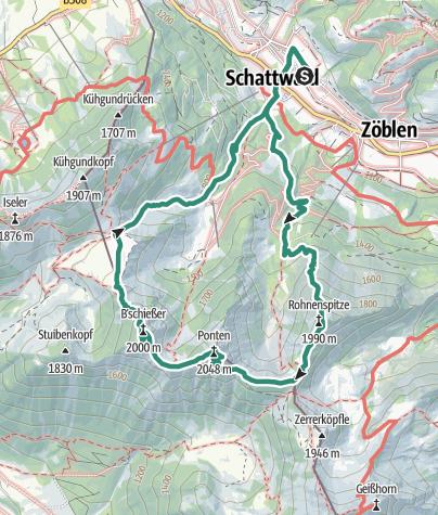 Tannheimer Tal Karte.Dreigestirn Uber Schattwald Tannheimer Tal Bergtour