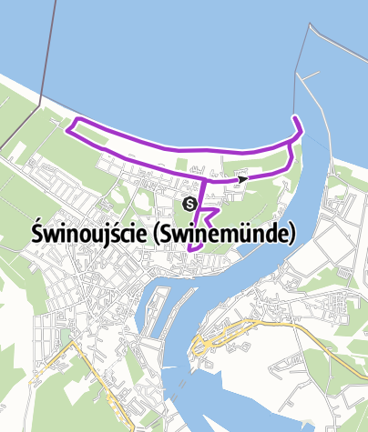 Map / Promenade/Mole - Swinemünde