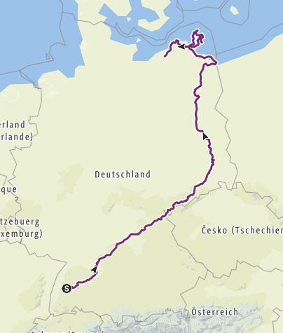 Karte / Tourenplanung am 27. März 2018
