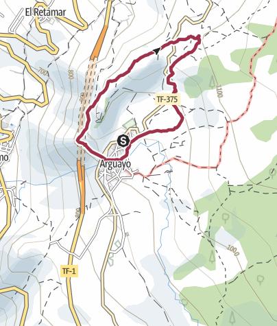 Map /  28. März 2018 Franzls 71. Geburtstagswanderung mit Grillfest