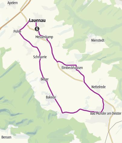 Térkép / Rund ums Deister- Sünteltal