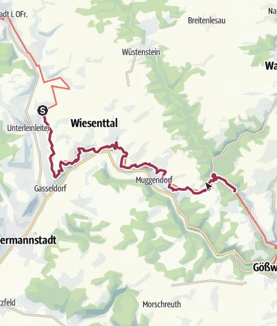 Karte / Frankenweg von Unterleinleiter nach Schottersmühle