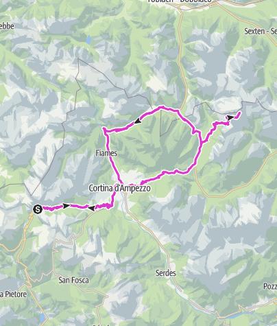 Map / [Alpy 2018] Falzarego - Cortina - Misurina - Tre Cime - Misurina - Falzarego