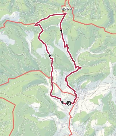 Karte / Rothaarsteig-Spur Wisentpfad