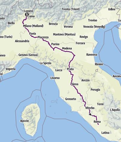 Karte / Tourenplanung am 2. April 2018
