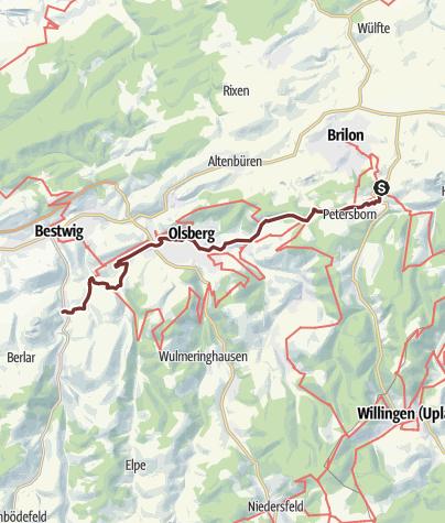Karte / Jakobsweg Brilon-Heringhausen