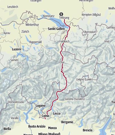 Karte / Alpenüberquerung 2018