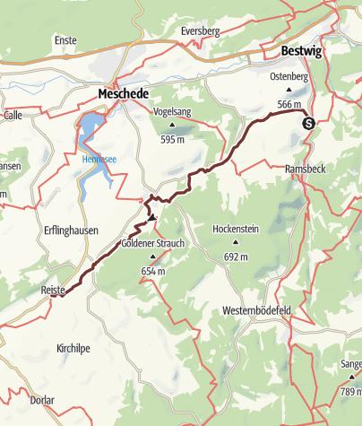 Karte / Jakobsweg Heringhausen-Reiste