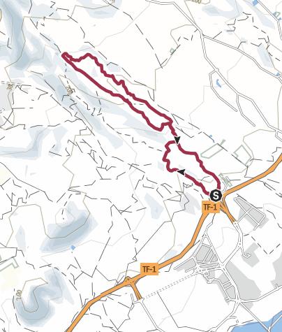 Karte / 4. April 2018 Mittwochswanderung ab TF1 Ausfahrt Haifischflosse