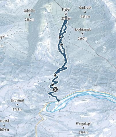 Karte / Preber 2741m
