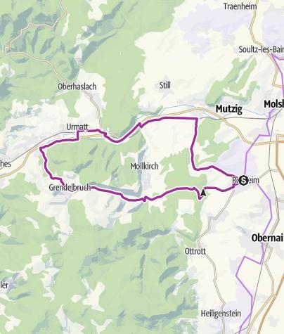 Karte / Rosheim - Vallée de la Bruche - Grendelbruch - Rosheim