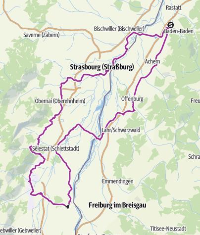 Karte / Elsass Fahrradtour