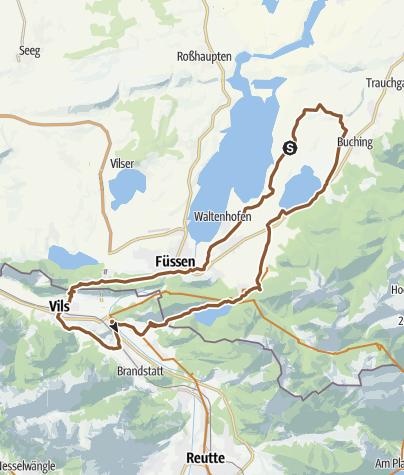 Map / Königsschlösser- 4-Seen Runde / Ostallgäu – Tirol