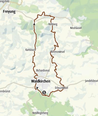 Karte / RSC Übern Goldenen Steig nach Kaining