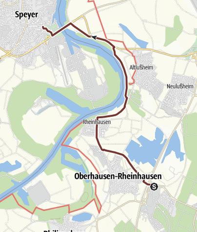 Karte / Martinusweg HW-36-05b Waghäusel - Speyer