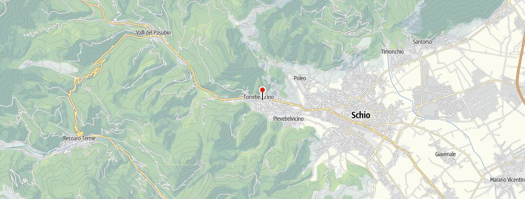 Map / Panoramawanderung im Leogratal, Veneto