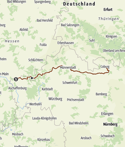 Karte / Trans Spessart-Röhn-Hassberge