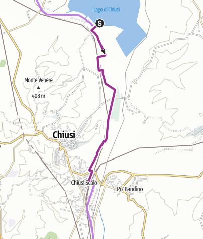 Radtouren Südtoskana - Tour 1: Von Chiusi Scalo zum Lago di Chiusi on