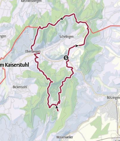 Map / Rund um Oberbergen mit Lilliental