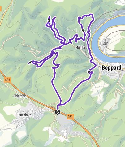 Karte / Skyrace Boppard