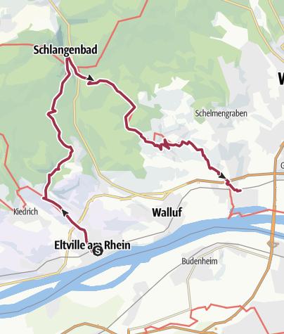 Map / Rheinsteig 01. + 02. Etappe Eltville - Schierstein