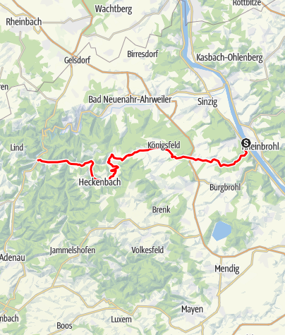 Karte / Eifel Motorradtour: Vom Rhein in die Ahr-Eifel